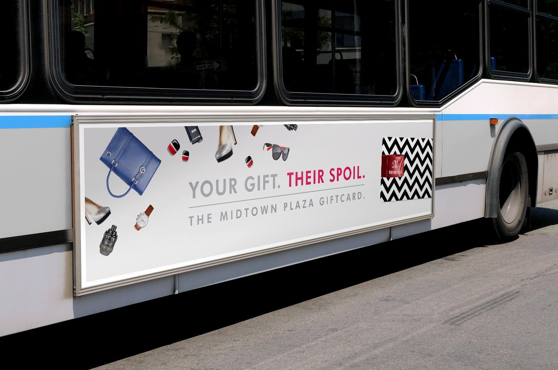 Giftcard Campaign Bus Ad